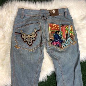 Rare Antik Denim Womens Jeans Embroidery Bootcut